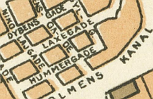 1929 - København (Trap (4)) Udsnit Hummergade