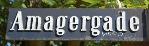 Amagergade - gadeskilt
