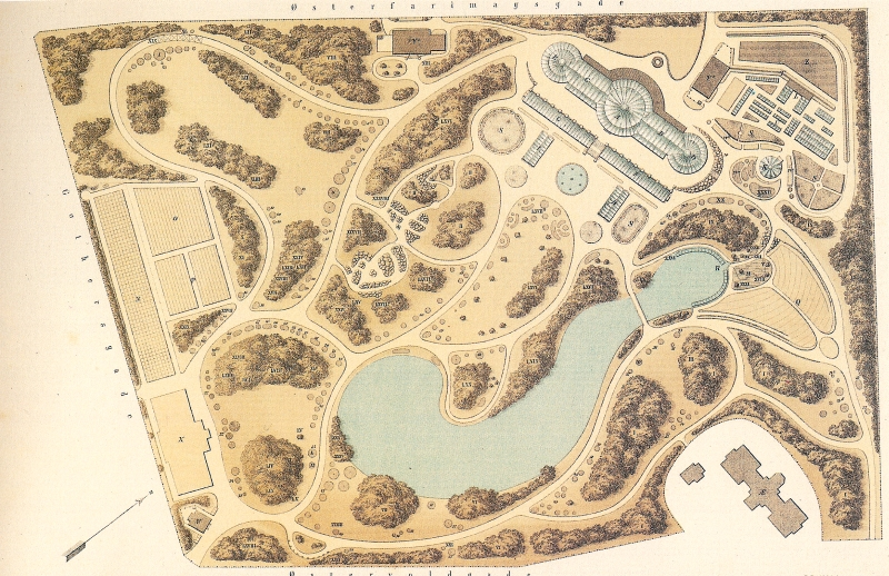 Botanisk Have - plan - ca 1874 RES
