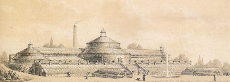 Botanisk Have - væksthus - ca 1874 RES