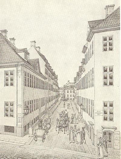 Klareboderne set fra Købmagergade (udsnit) H G F Holm udateret RES