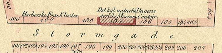Sterms kort 1840 Udsnit