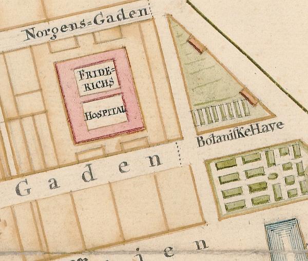 Udsnit af kort 1769 (Københavns Stadsarkiv)
