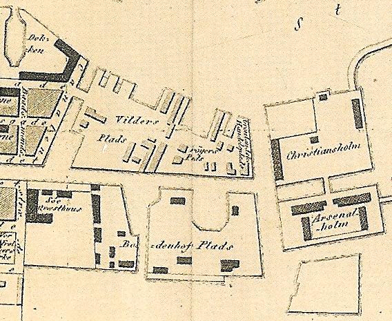 1820 - København - Udsnit Bodenhoffs Plads