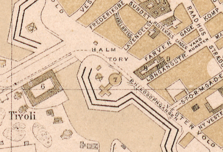 1872 - Udsnit Rådhuspladsen