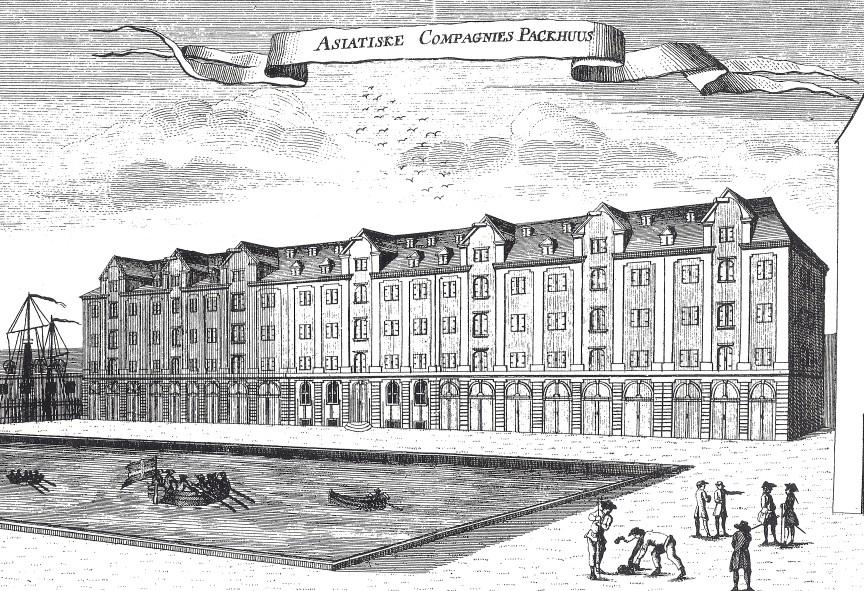 Eigtveds Pakhus (efter Pontoppidans Danske Atlas) 1764