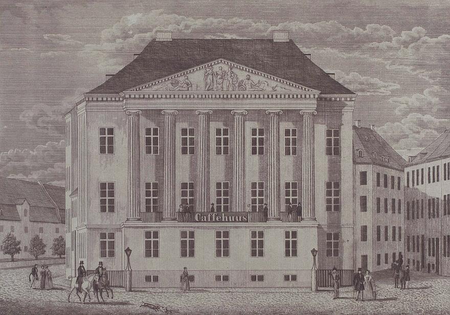 Erichsens Palæ 1840 - ukendt kunstner - Tegning i Det Kongelige BIbliotek