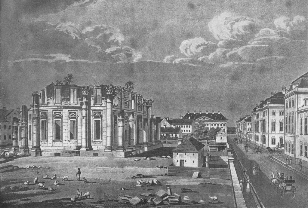 Frederikskirken - ruin - HGF Holm 1830erne
