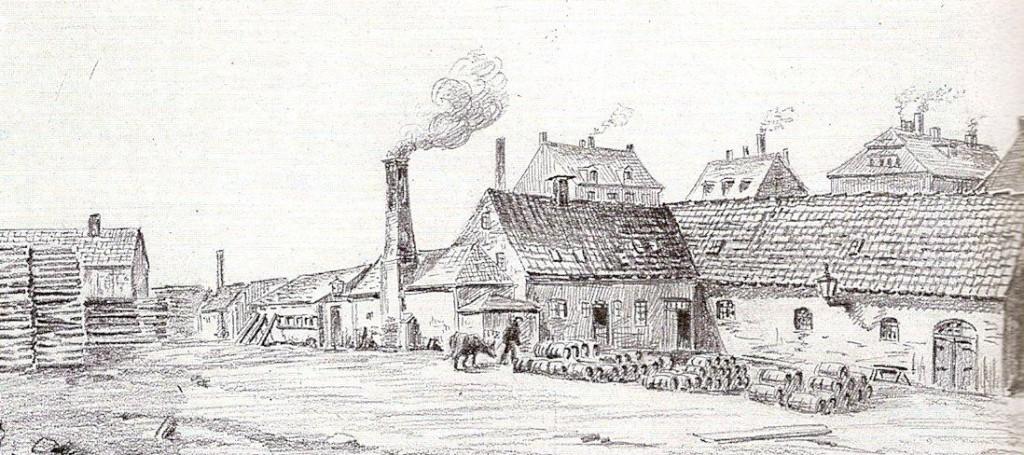 Hambros rismølle. Original i Det Kongelige Bibliotek