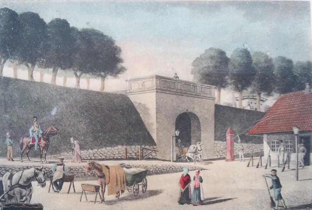 Vesterport - akvarel af Beyer 1850erne