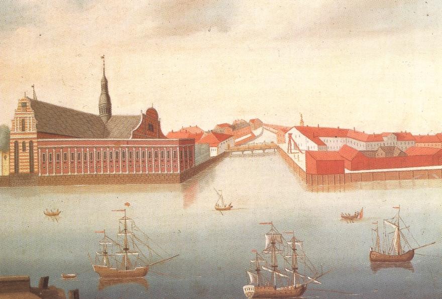 Rach og Eegberg - maleri 1740erne