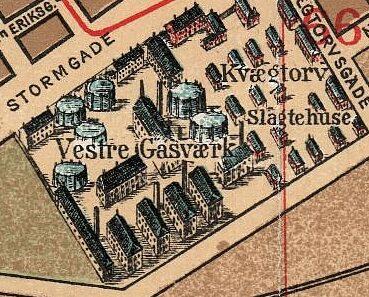 Udsnit af kort over monumentalplan over København, 1897.