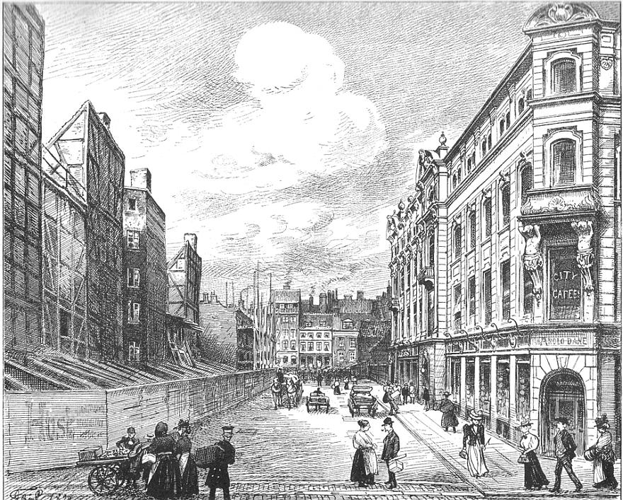 Citygade under anlæg - 1899