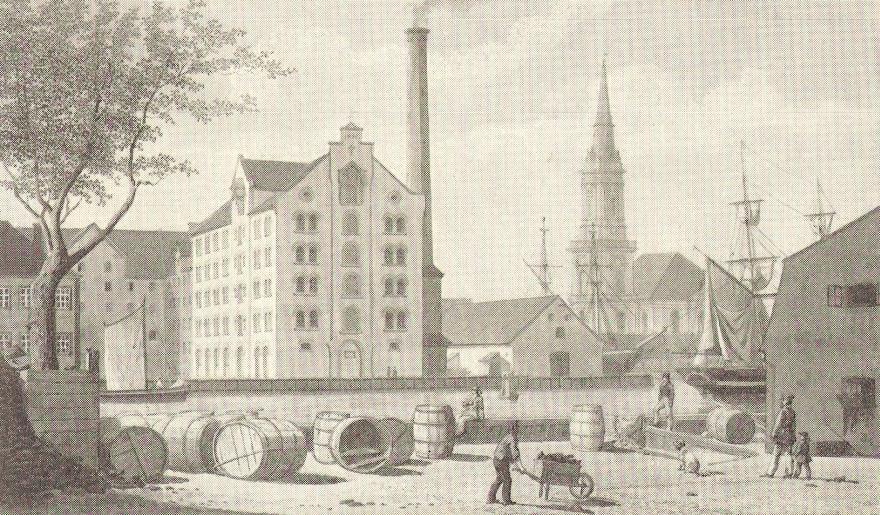 Christianshavn set fra Børsgraven - H G F Holm RES