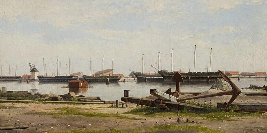 cw-eckersberg-parti-af-nyholm-med-kranen-og-nogle-krigsskibe-1826-res