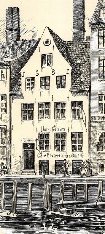 Nyhavn 9 er gadens ældste hus, og bygget i 1861.