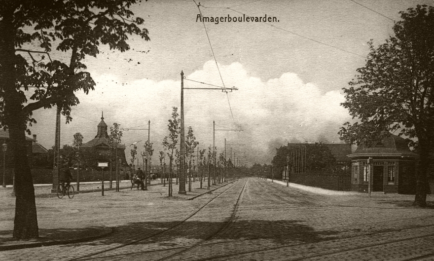 Amager Boulevard - postkort sendt 1911 RES