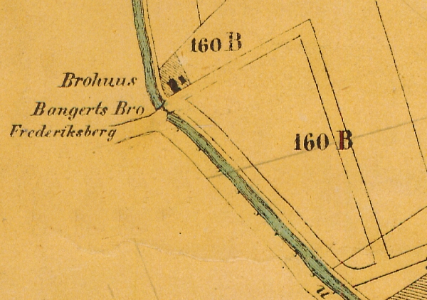 1858 - Plan af forstaden Nørrebro (Københavns Stadsarkiv)