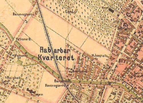 1876 - København - Both Udsnit Rabarberkvarteret