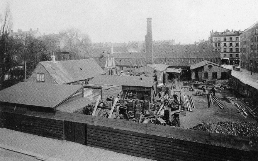 Heegaards jernstøberi Nørrebro ca. 1895 set fra Todesgade RES