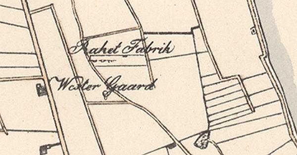 Lohses kort over Amager ca 1814 Udsnit Krudtmøllegård