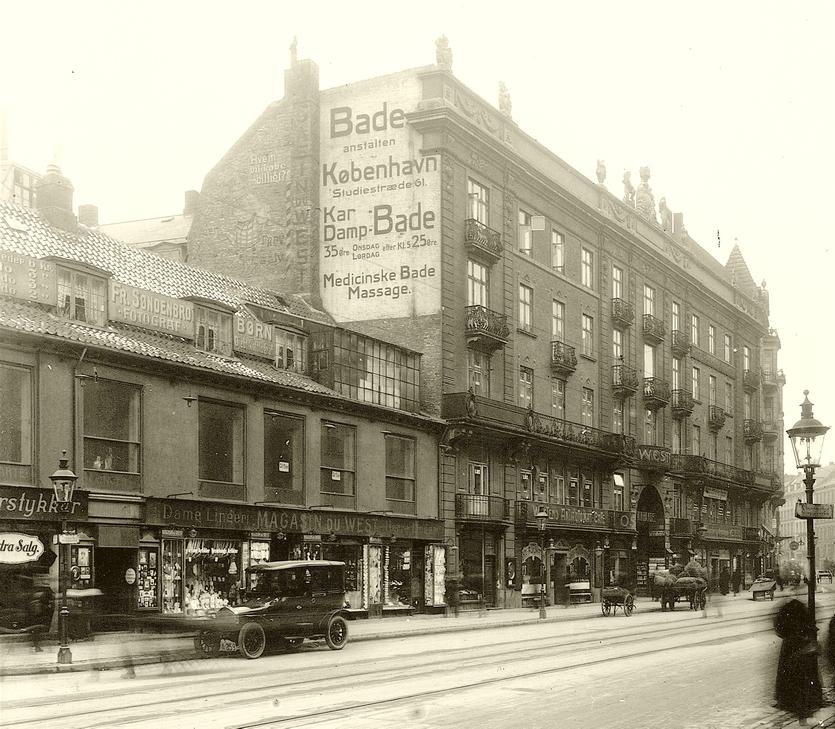 Westend 1916. Foto Peter Elfelt (Original i Københavns Museum)