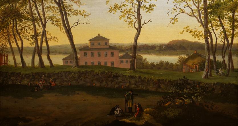 Carl Frederik Vogt - Sophienholm set fra nord med Bagsværd Sø i baggrunden - Ca. 1805 - Sophienholm (Privateje)