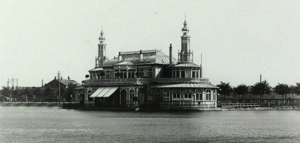 Søpavillonen. Foto af Bertel Christian Budtz Müller - 1863-1900 (Det Kgl. Bibliotek)