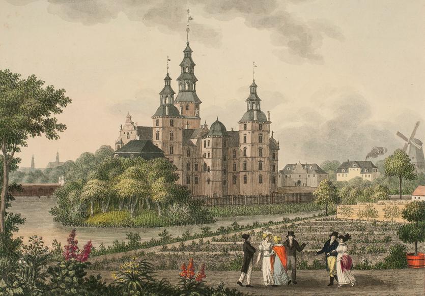 Rosenborg. Radering af Søren L Lange (1759-1829). Tilhører SMK KKSgb12530