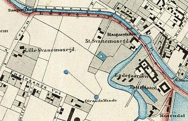 1860 - Kaart over København. L. Both (Original i Det Kgl. Bibliotek)