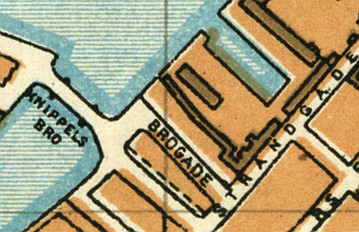 Udsnit af kort 1929 (Trap Danmark, 4. udgave)