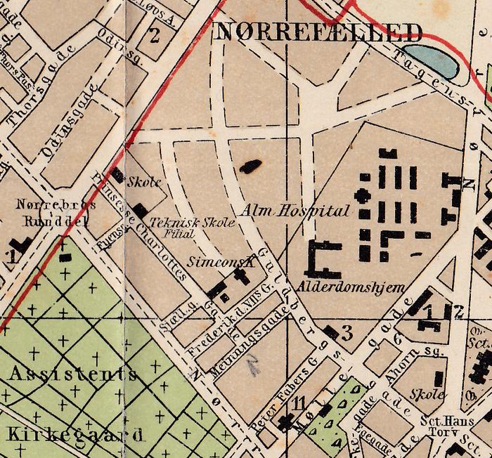 Udsnit-af-nyeste-kort-over-København.-Ca.-1915.-Axel-Andersens-Forlag