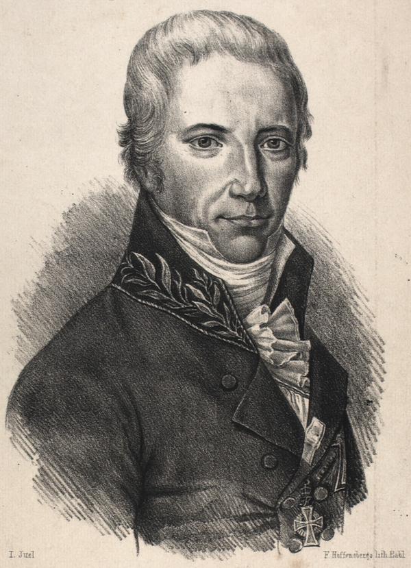 Christian Colbiørnsen. Litografi af Franz Hoffensberg efter maleri af Jens Juel (Det Kgl. Bibliotek)