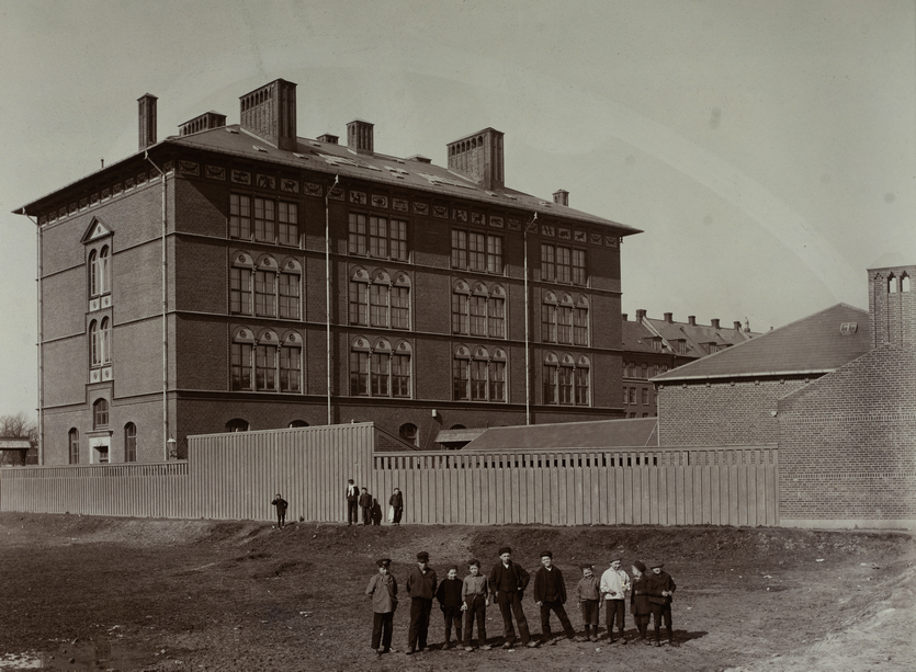 Enghavevejens Skole. Foto af Sophus Juncker-Jensen. (Københavns Museum)