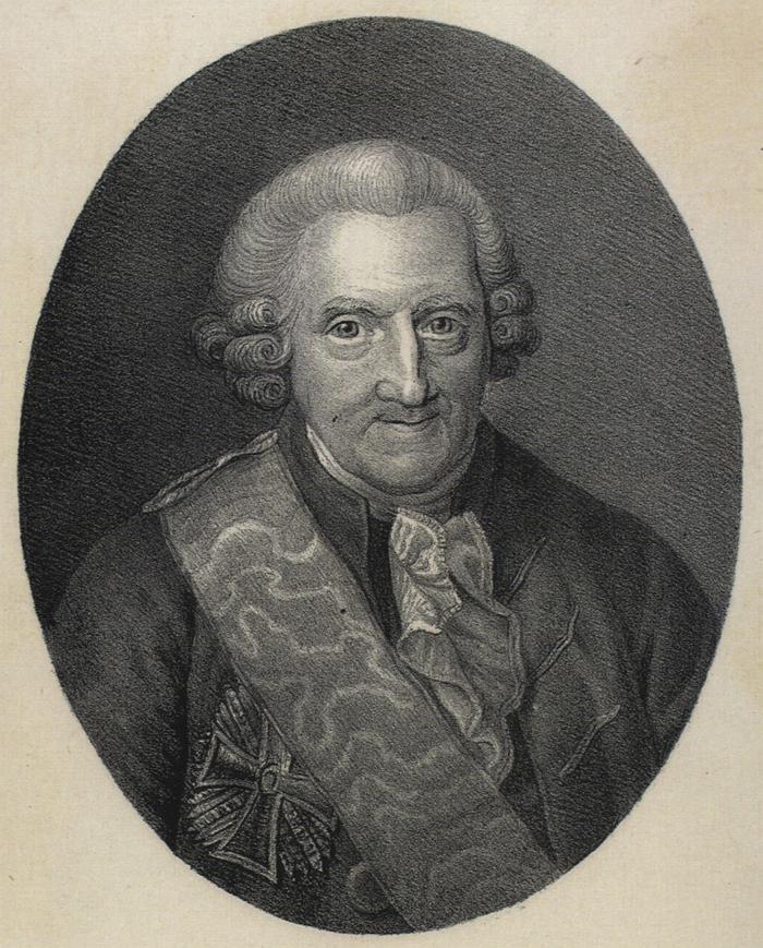 Henrik Stampe. Emil Bærentzen efter maleri af Jens Juel (Det Kgl. Bibliotek)