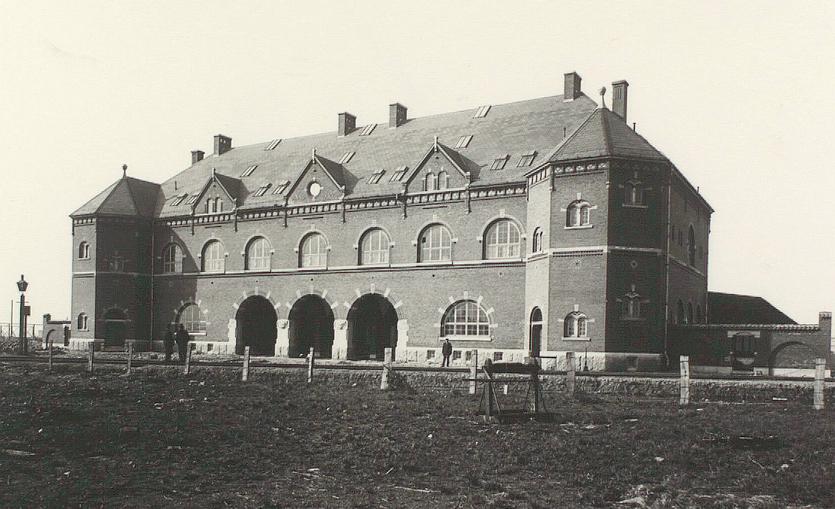 Københavns Godsbanegård. Foto af Lars Peter Elfelt (Det Kgl. Bibliotek)