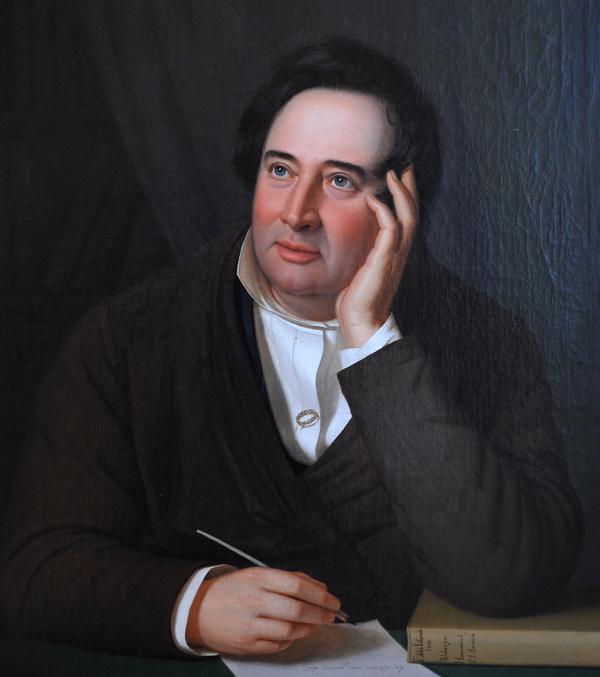 Lars Hansen - Portræt af Adam Oehlenschläger - 1841 - Tilhører Bornholm Kunstmuseum