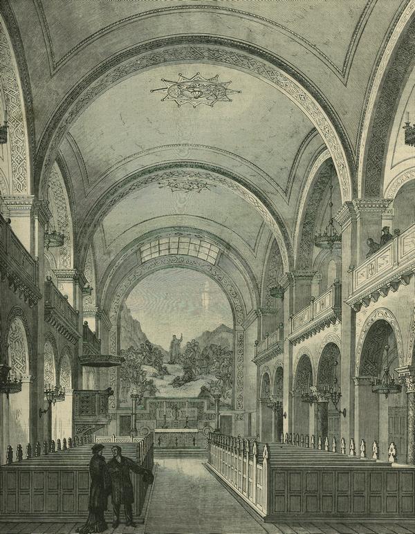 Kirkens interiør i indvielsesåret (Illustreret Tidende 1880-81)