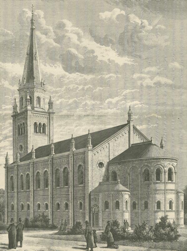 Sankt Matthæus Kirke under opførelse (Illustreret Tidende 1877-78)