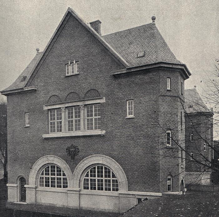 Skolen ved Niels Ebbesensvej - gymnastikhus (Fra Architekten 1909)