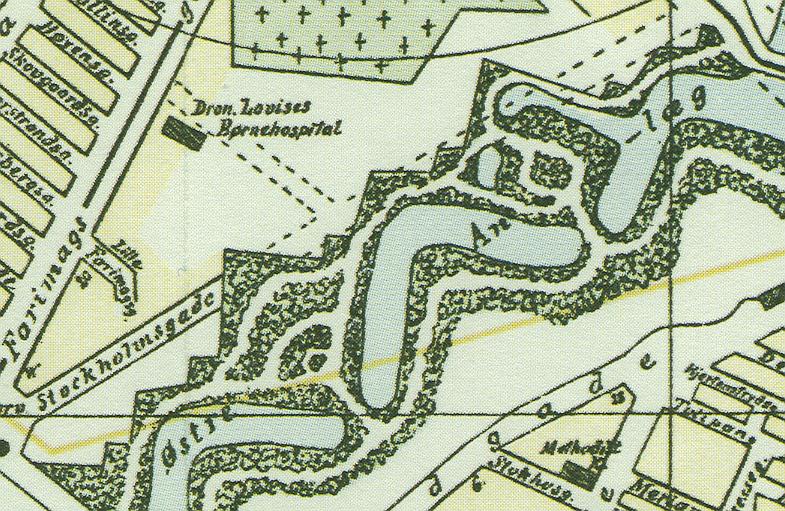 Udsnit af kort over København 1886 udarbejdet af H. Waagensen