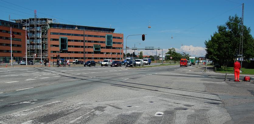 Vasbygade ved krydset med Teglholmsgade.