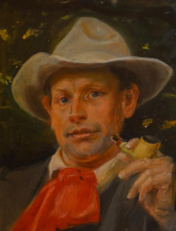 Martin Andersen Nexø malet af Michael Ancher ca. 1910. Billedet tilhører Bornholm Kunstmuseum.