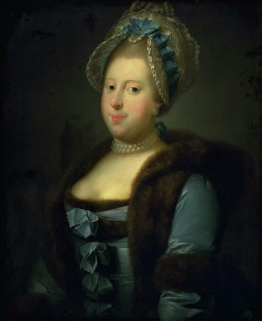 Caroline Mathilde - portræt udført af Jens Juel. 1769. (SMK)