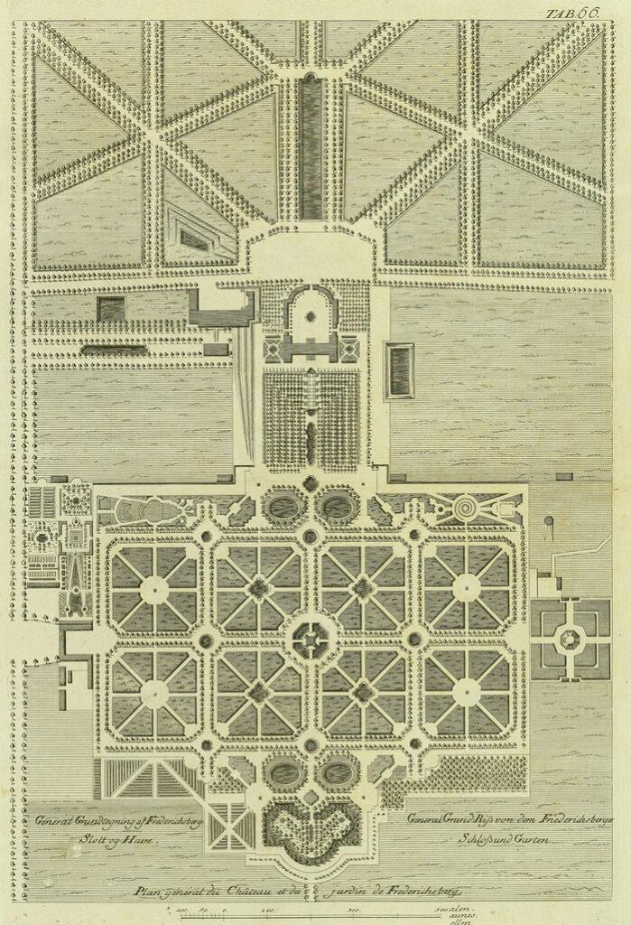 General Grundtegning af Frederichsberg Slott og Have (Det Kgl. Bibliotek)