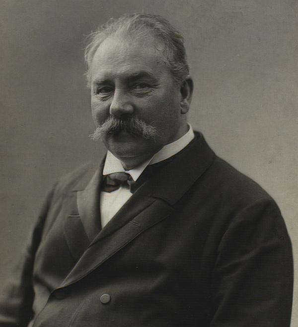 Johan Svendsen. Foto af Sophus Lindström (Det Kgl. Bibliotek)