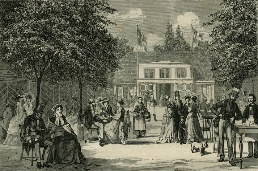 Jostys pavillon. Fra Illustreret Tidende 1866-67,