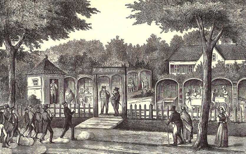 Traktørstedet Haabet. Tegning af P. Klæstrup 1870'erne