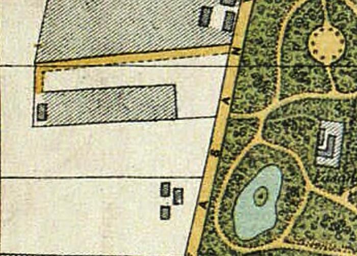 Udsnit af kort over Kjøbenhavn med nærmeste omegn. 1883. Udført af V. F. A. Berggreen. (Det Kgl. Bibliotek).