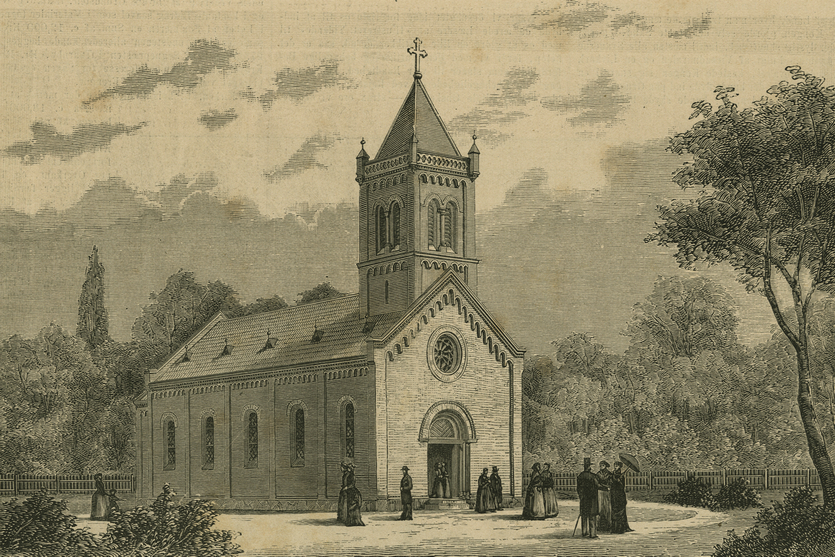 Kastrup Kirke tegnet af arkitekten Phillip Smith (Illustreret Tidende 1881-82).